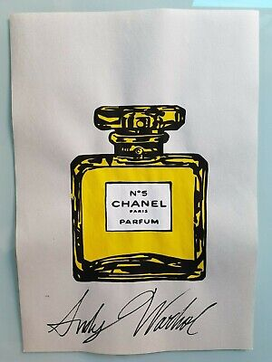 $42 • Buy Andy Warhol Hand Signed. Chanel N° 5  Watercolor Drawing. Pop Art