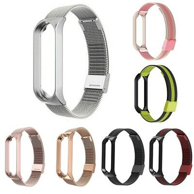 $7.98 • Buy For Xiaomi Mi Band 3 4 Mesh Stainless Steel Wrist Watch Band +Frame Replacement