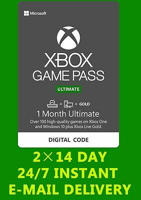 $7.89 • Buy Xbox Live 1 Month Gold & Game Pass Ultimate (2x14 Day) FAST EMAIL DELIVERY