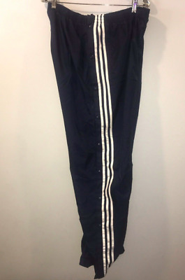 $ CDN39 • Buy Vintage Adidas Track Tear Away Button Pants 90s Large Snap Warm Up Windbreaker