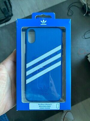 AU17.31 • Buy Adidas 3 Stripes Snap Case For IPhone X / XS - Royal Blue 5.8 Suede Leather New