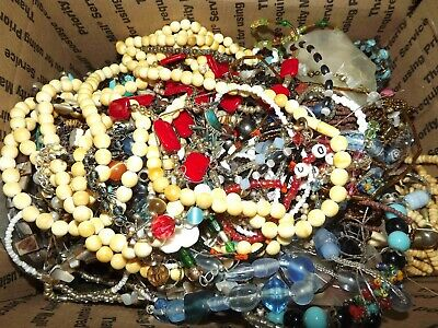 $ CDN75.65 • Buy Huge Lot C  Of 12lbs Glass & Stone Beads  For Harvest & Making Jewelry *lqqk*