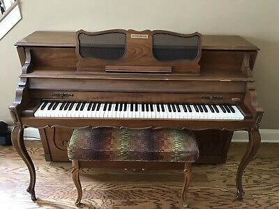 $750 • Buy Vintage Baldwin Acrosonic Upright Piano And Storage Bench - Excellent Condition