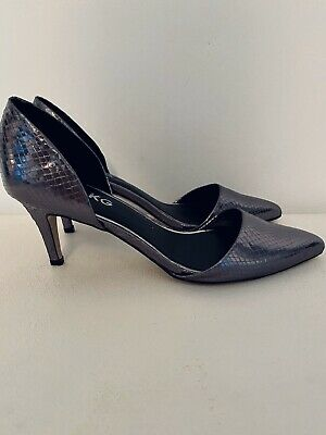Miss KG Pointed Two Part Court Shoes Size 6 Pewter • 15.99£