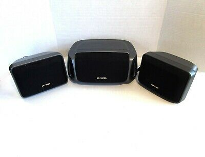 $14.50 • Buy Lot Of 3 AIWA Surround Sound Speakers, 2 X SXR210 And One Center Channel SXC400