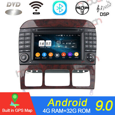 $429 • Buy 7'' Android 9.0 Car Stereo DVD Player GPS Nav Radio For Benz S Class W220 DSP BT