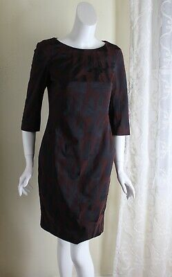 $ CDN120.81 • Buy MM Lafleur -Sz 8 New York Rich Black Burgundy  Modernist Sheath Dress