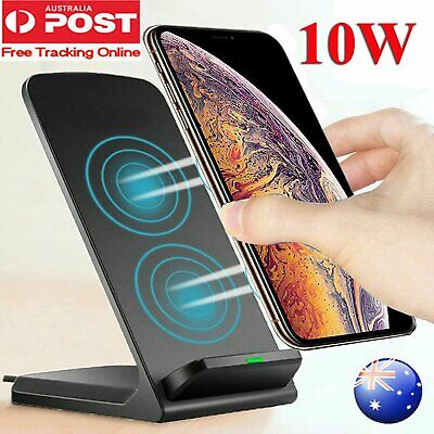 AU19.12 • Buy QI Portable Cordless Wireless Charger Stand Dock For IPhone 11 Max XR Samsung S9