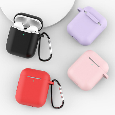 $ CDN1.56 • Buy Silicone Soft Case Cover Protective Skin Keychain For Apple Airpods 2 1 Earphone