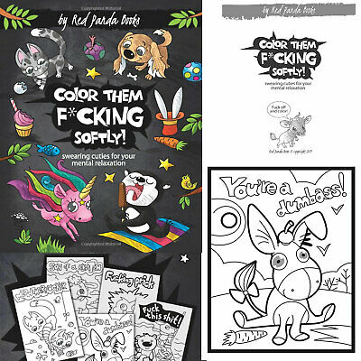 $8.49 • Buy Swear Word Adult Coloring Book Cuties Animal Hilarious Images Mental Relaxation