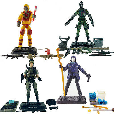 $ CDN19.57 • Buy 4  GI JOE B.A.T Android General Clayton Commander Blowtorch - Your Choice