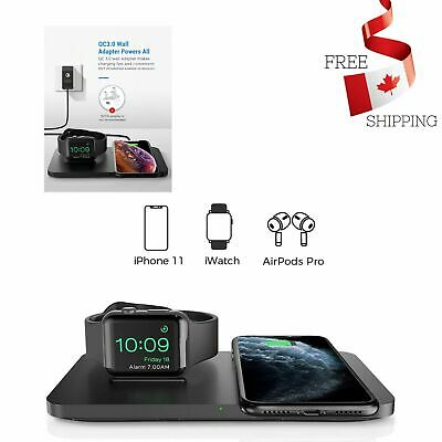 $ CDN27.98 • Buy Apple Dual Wireless Charger With Apple Watch Charging Stand Multiple Protection