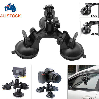 AU14.99 • Buy Triple Suction Cup 360° Mounts For GoPro Hero 2/3/4/5/6/7 HD Camera Accessories