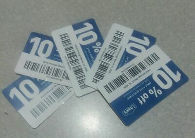 $5.79 • Buy 5- Lowe's Blue Card 10% Off For Home Depot + Other Comp Not Lowe's  Exp 07/15/20