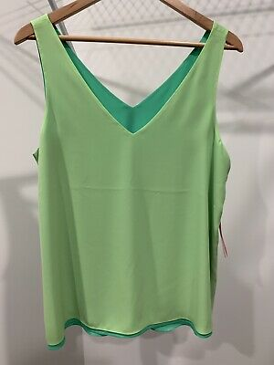 $49 • Buy Lilly Pulitzer Florin Top Size Large L Reversible Lime