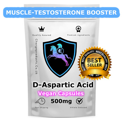 AU8.80 • Buy D-Aspartic Acid Capsules 500MG  X120 Testosterone Muscle Booster Muscle Growth