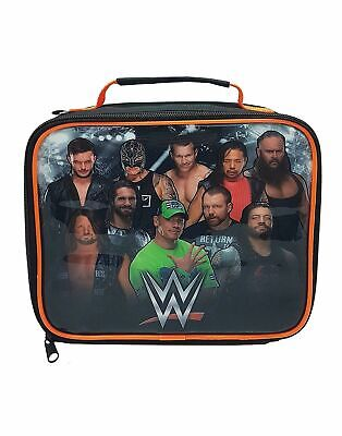 WWE Character Logo Black Zip Up Lunch Bag • 12.99£