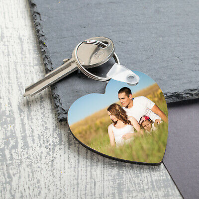 £4.99 • Buy Personalised Photo Keyring Any Picture Custom Keychain Double Single Side Print