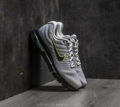 $114 • Buy New Nike Air Max 2017 Grey Volt Black Men's Size 8-13 Running Sneaker 849559-012