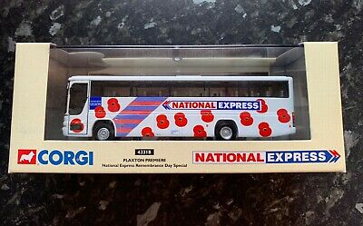 Corgi 43318 National Express Remembrance Day Special 4mm 1:76 Scale Coach • 24.99£