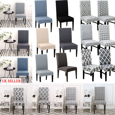 £4.16 • Buy Universal Dining Chair Covers Removable Slipcovers Wedding Banquet Decor 1-8x
