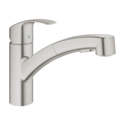 Grohe Single Lever Sink Battery Eurosmart 30305DC0 Water Tap Extendable • 148.54£