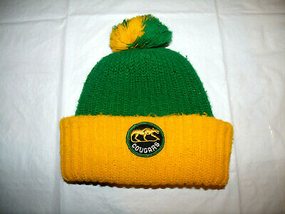 $19.99 • Buy Chicago Cougars WHA Hockey 1972-1975 Vintage Winter Cuff Pom Hat YOUTH
