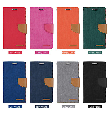 AU12.95 • Buy Goospery Canvas Diary Wallet For Samsung, Sony & Huawei - FAST SHIPPING