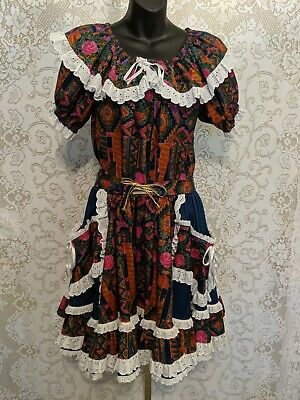 $28 • Buy Square Dance Handmade Art To Wear 2 PC Skirt Top #3746
