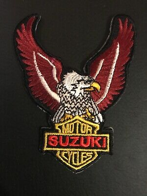 $3.99 • Buy Suzuki Eagle Racing Embroidered 2.75  X 3.75  Iron On Motorcycle Patch