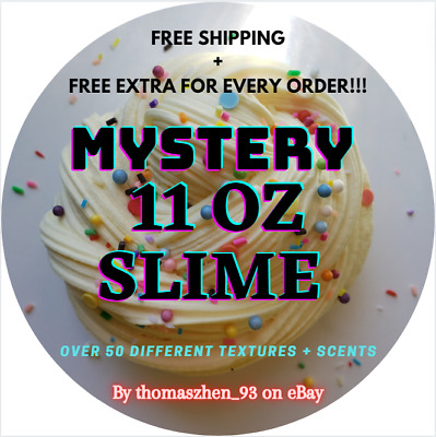 AU16.08 • Buy LARGE Mystery 9 Oz Slime: Scented, Crunchy, Butter, Clear, Cloud, Thick, Jelly