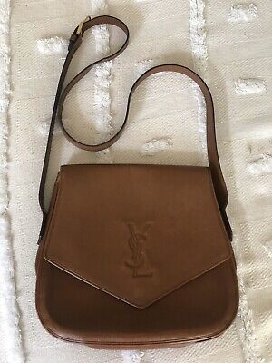 AU440 • Buy Ysl Yves Saint Laurent Vintage Tan Flap Satchel Shoulder Strap Bag Rare