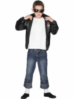 Official Grease T-birds Jacket Fancy Dress Costume Accessory Boys 10-12 Years • 20.12£