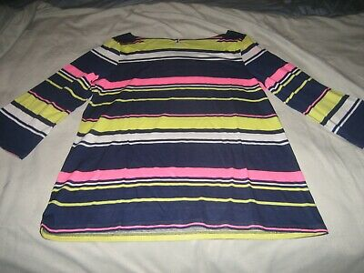 $16.99 • Buy NWT! LILLY PULITZER Waverly Top Multi Sun Stripe #004560 - Sz. Large