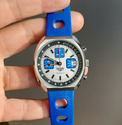 $ CDN221.51 • Buy Vintage Heuer 1614 French Chronograph 1970's Valjoux 7765 Rare And Unusual 37mm