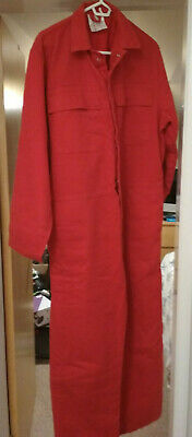 Large Pair Of PROBAN Fire Retardent Overalls In Red 40 /102cm Chest • 16£