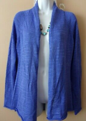 $12.95 • Buy LILLY PULITZER Size S Blue Open Front Cardigan Sweater