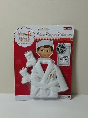 AU71.78 • Buy The Elf On The Shelf Claus Couture Relaxing Robe And Slippers Clothing Set NIP