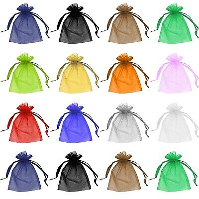 £3.49 • Buy 50 Organza Bags Jewellery Pouches Wedding Favour Party Mesh Drawstring Gift Cake