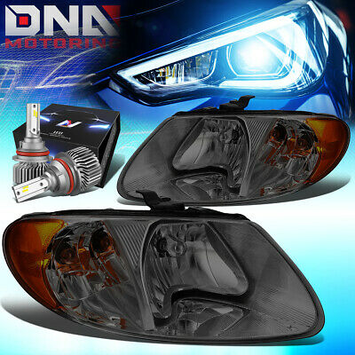 $112.87 • Buy For 2001-2007 Chrysler Town Country Headlights W/led Kit Slim Style Smoked/amber