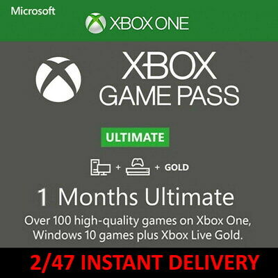 $ CDN5.51 • Buy 1 Month Game Pass Ultimate + Xbox Live Gold (2 X 14 Day Trial) Instant Delivery