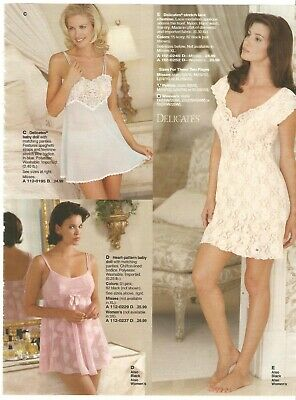 $9.99 • Buy Lot Of 90's Vintage Catalog Lingerie Slips Photo Pages Ads Clippings