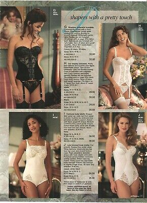 $9.99 • Buy Lot Of 90's Vintage Catalog Lingerie Bras Briefers Photo Pages Ads Clippings