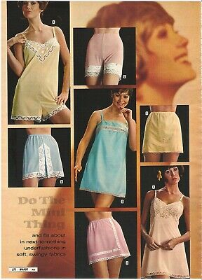 $9.99 • Buy Lot Of 70's Vintage Catalog Slips Pj's Lingerie Photo Pages Ads Clippings