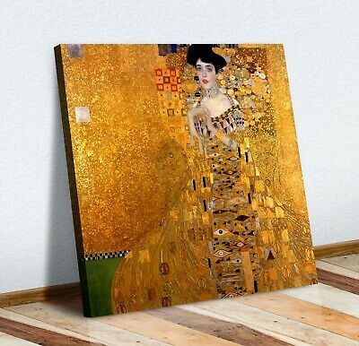 Gustav Klimt Adele Bloch-Bauer I CANVAS WALL ART PICTURE PRINT PAINTING GOLD • 12.99£