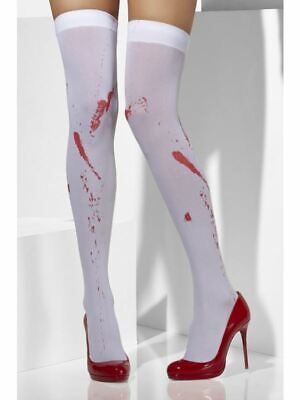 Blood Skeleton Stockings Hold Ups Tights Bride Zombie Halloween Fancy Dress • 6.61£