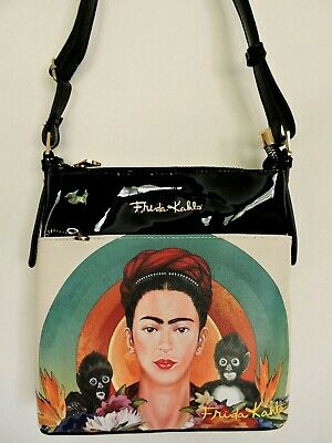 $35.99 • Buy FRIDA KAHLO Monkey Series Small Black Messenger Bag Licensed Authentic