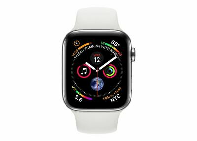 $ CDN579.99 • Buy Apple Watch Series 4 40 Mm Stainless Steel Case With White Sport Band (GPS +...