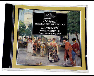 THE GREAT COMPOSERS ROSSINI THE BARBER OF SEVILLE Rare CD Album - Complete, VGC • 4.49£