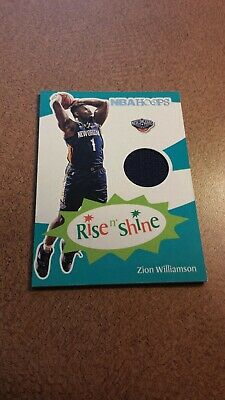 $2.25 • Buy Zion Williamson 2019/20 Hoops Rise And Shine Rookie Jersey Card.Pelicans
